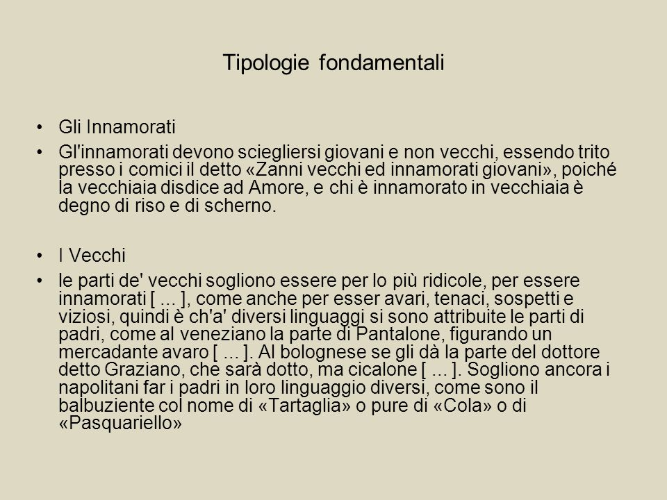 Tipologie fondamentali
