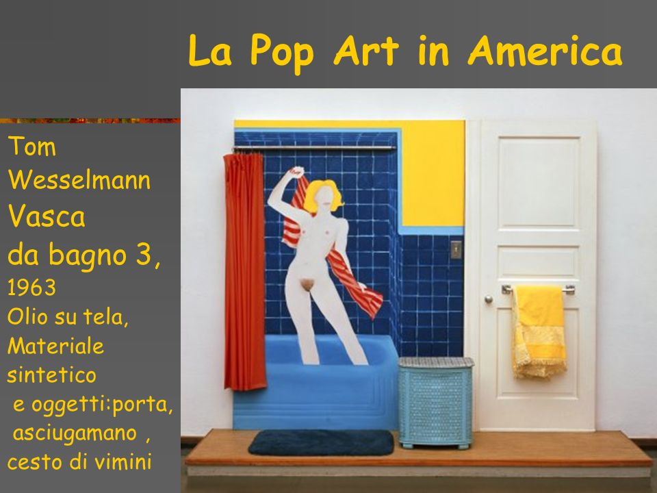 Vasca da bagno 3, La Pop Art in America Tom Wesselmann 1963