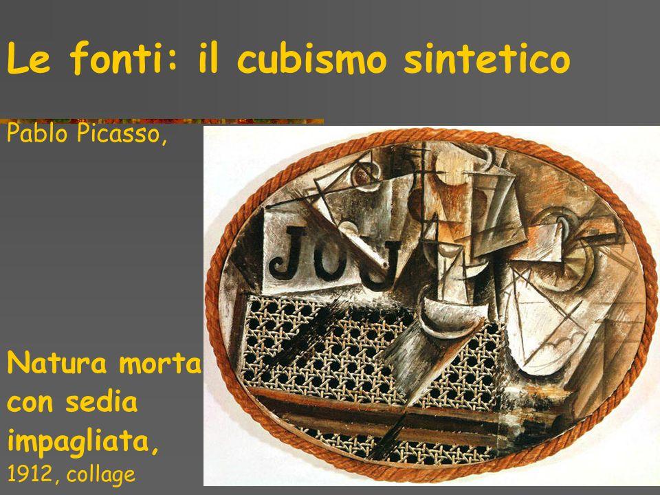Le fonti: il cubismo sintetico