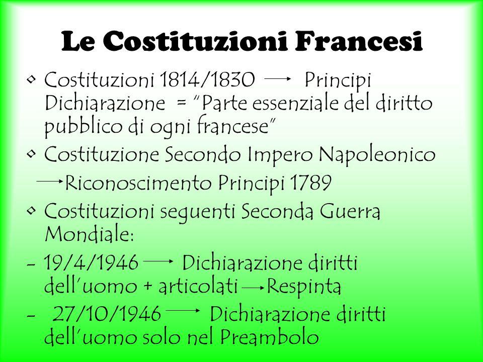 Le Costituzioni Francesi