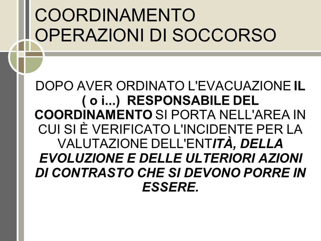COORDINAMENTO OPERAZIONI DI SOCCORSO