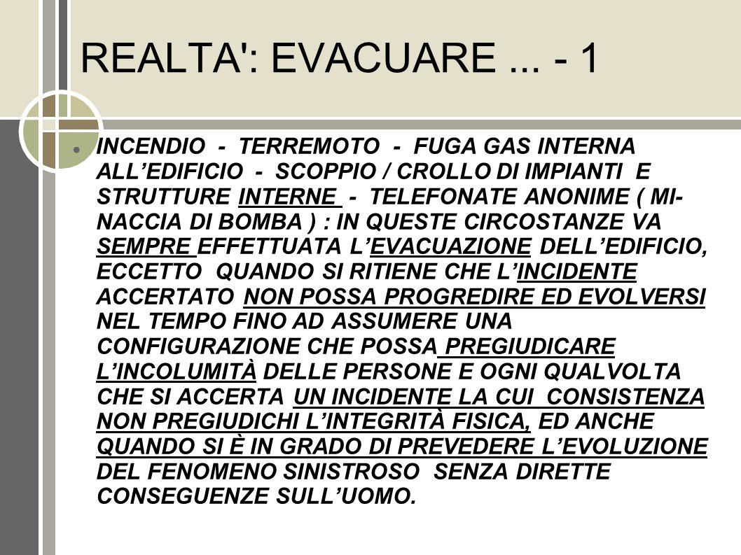 REALTA : EVACUARE ... - 1