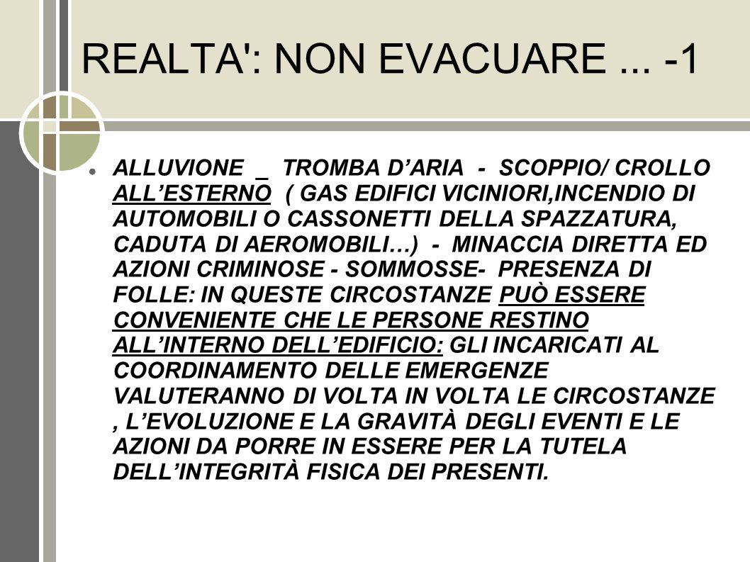 REALTA : NON EVACUARE ... -1