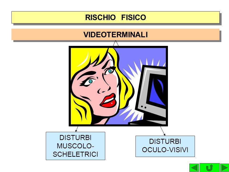 RISCHIO FISICO VIDEOTERMINALI