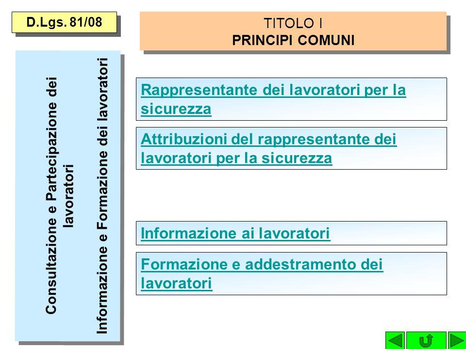 TITOLO I PRINCIPI COMUNI