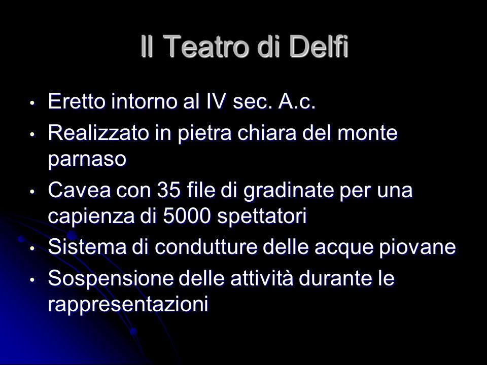 Il Teatro di Delfi Eretto intorno al IV sec. A.c.