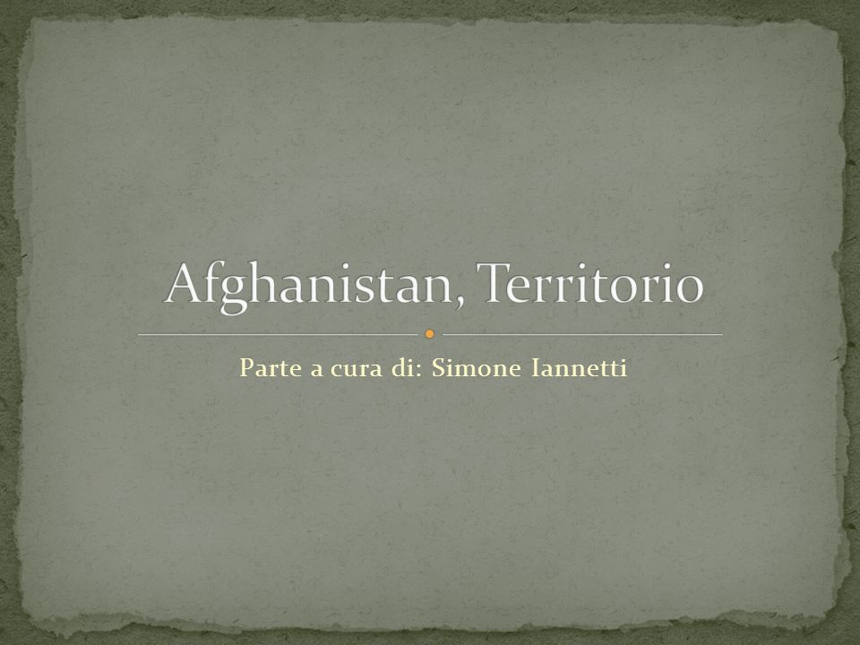 Afghanistan, Territorio