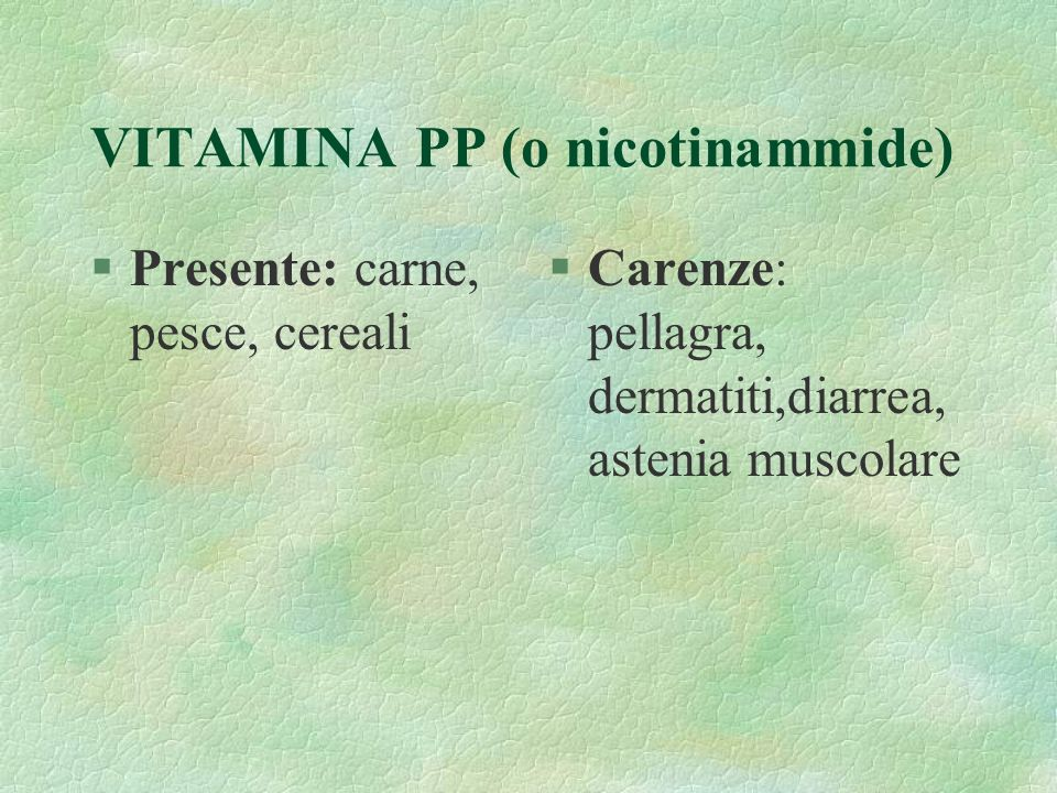 VITAMINA PP (o nicotinammide)