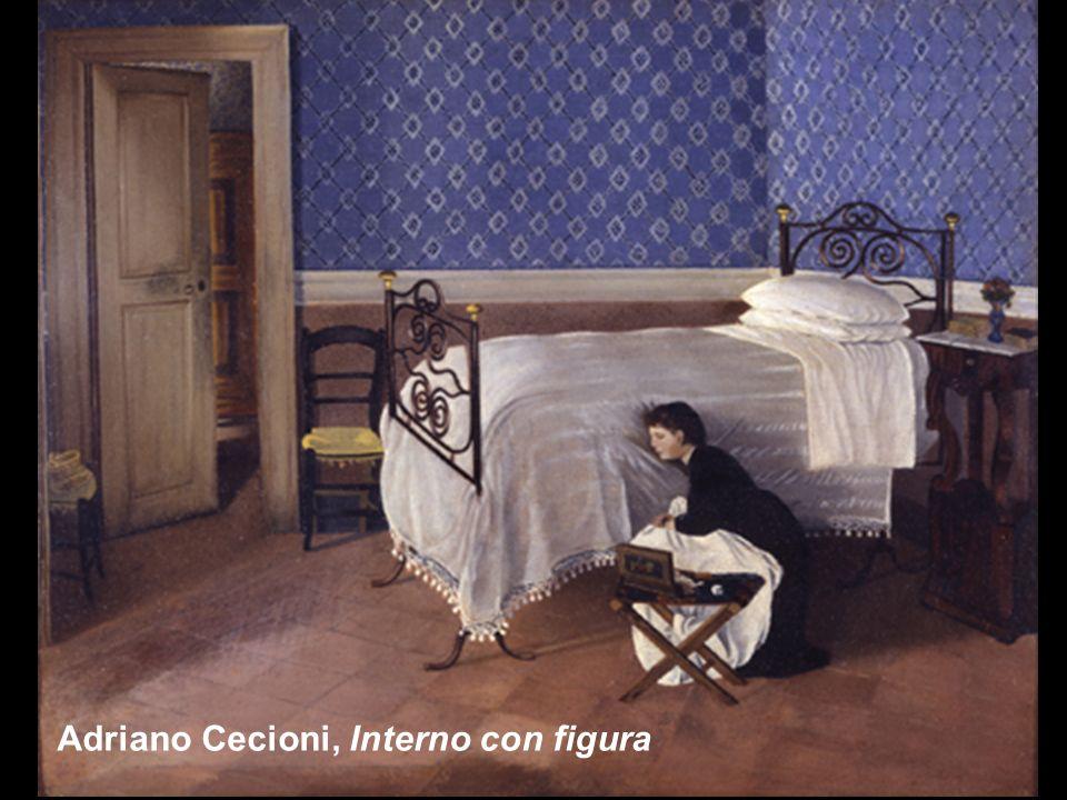 Adriano Cecioni, Interno con figura