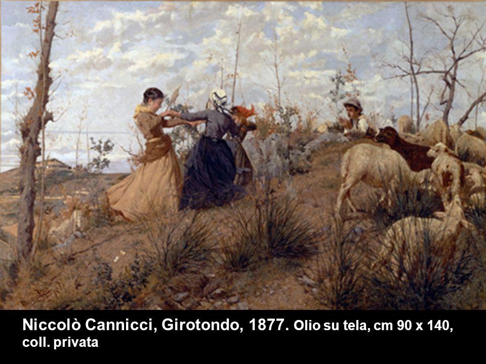 Niccolò Cannicci, Girotondo, 1877. Olio su tela, cm 90 x 140, coll
