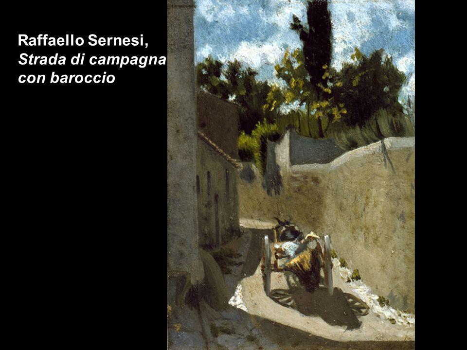 Raffaello Sernesi, Strada di campagna con baroccio