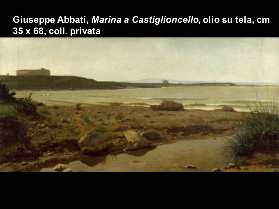 Giuseppe Abbati, Marina a Castiglioncello, olio su tela, cm 35 x 68, coll. privata