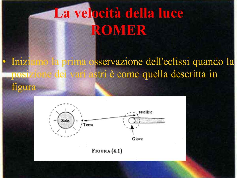 La velocità della luce ROMER