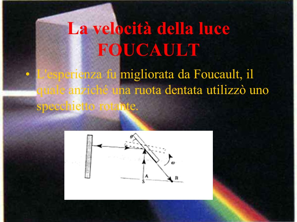 La velocità della luce FOUCAULT
