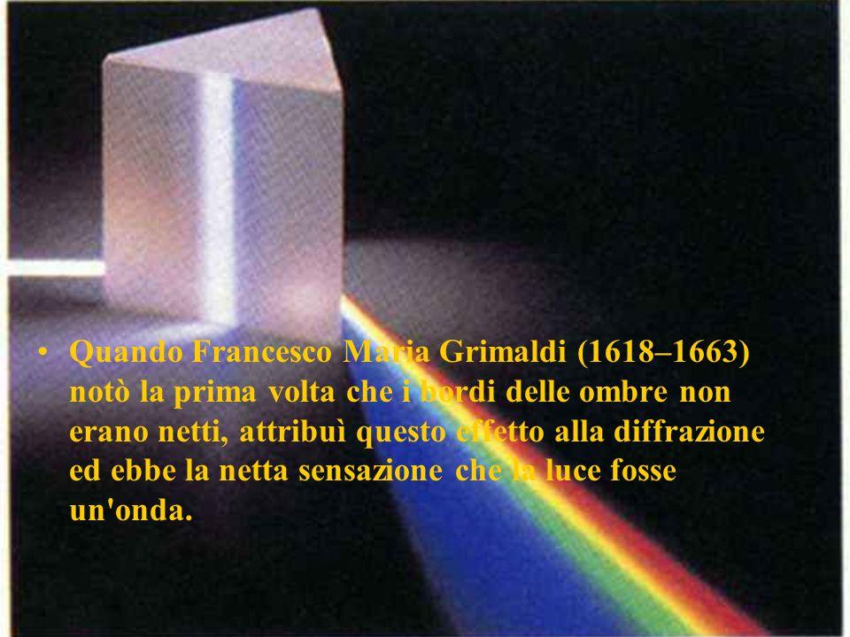 Quando Francesco Maria Grimaldi (1618–1663) notò la prima volta che i bordi delle ombre non erano netti, attribuì questo effetto alla diffrazione ed ebbe la netta sensazione che la luce fosse un onda.
