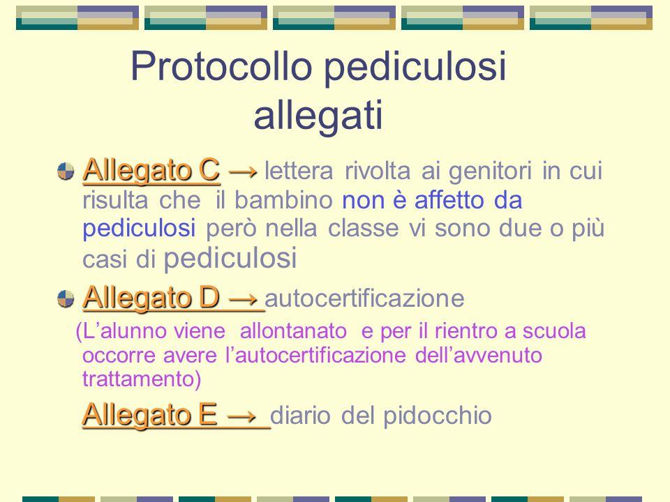 Protocollo pediculosi allegati