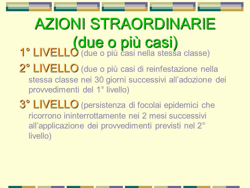 AZIONI STRAORDINARIE (due o più casi)