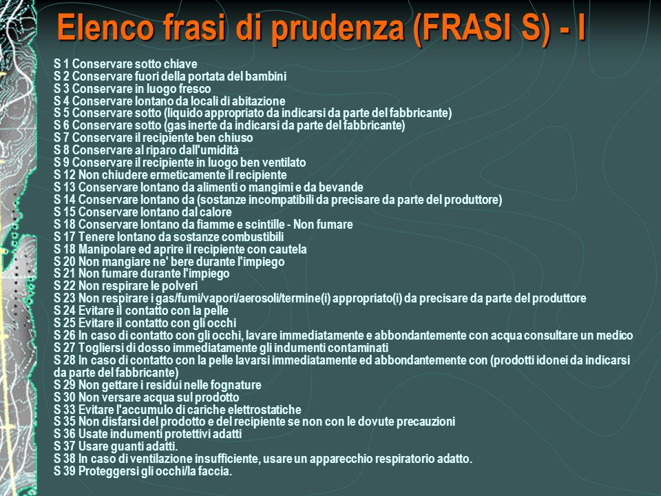 Elenco frasi di prudenza (FRASI S) - I