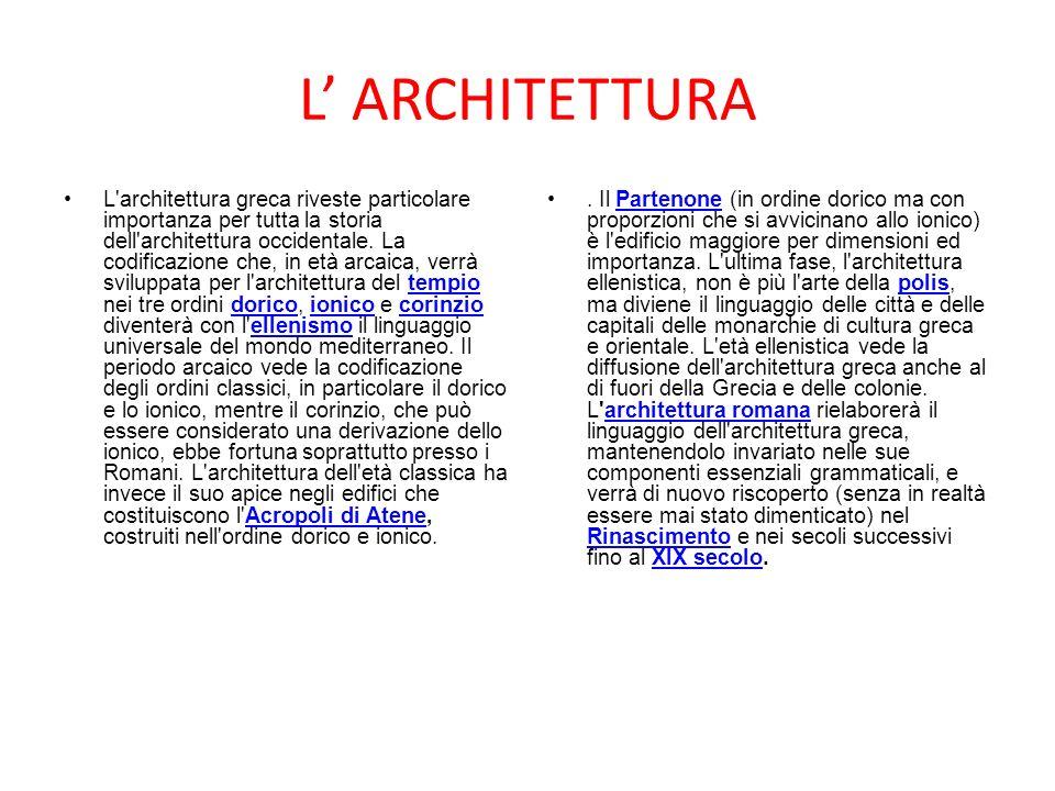 L' ARCHITETTURA