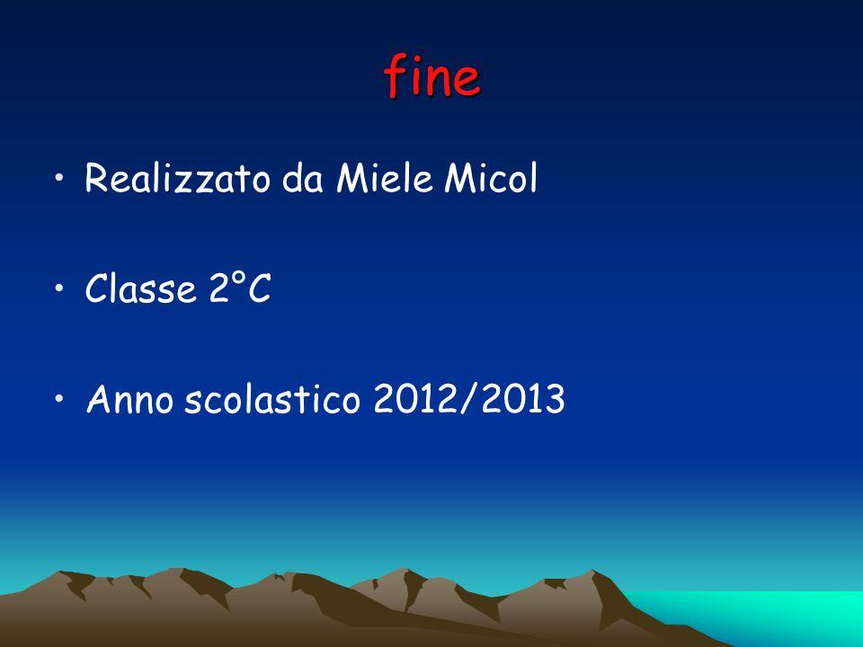 fine Realizzato da Miele Micol Classe 2°C Anno scolastico 2012/2013