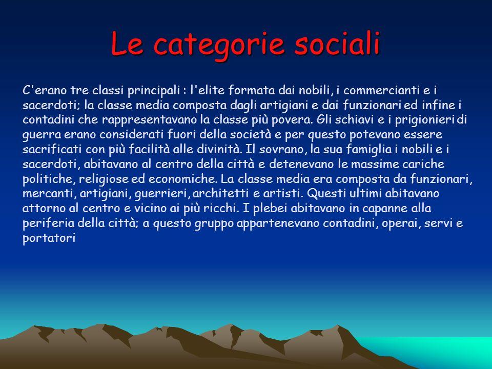 Le categorie sociali