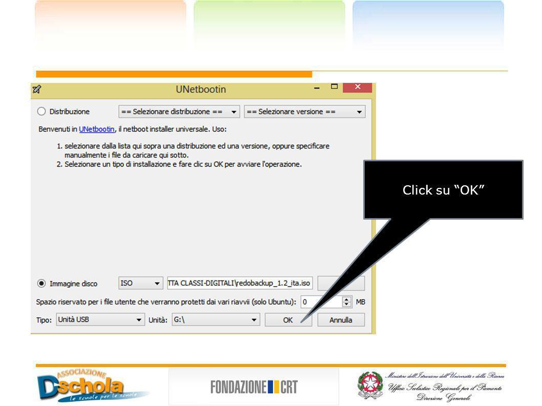 Click su OK