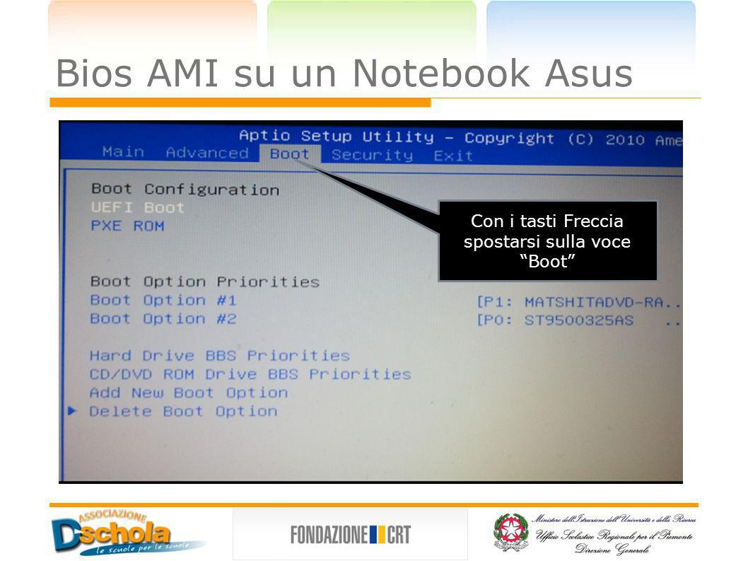 Bios AMI su un Notebook Asus