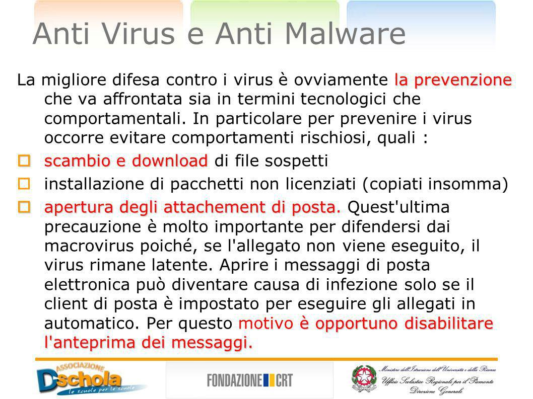 Anti Virus e Anti Malware