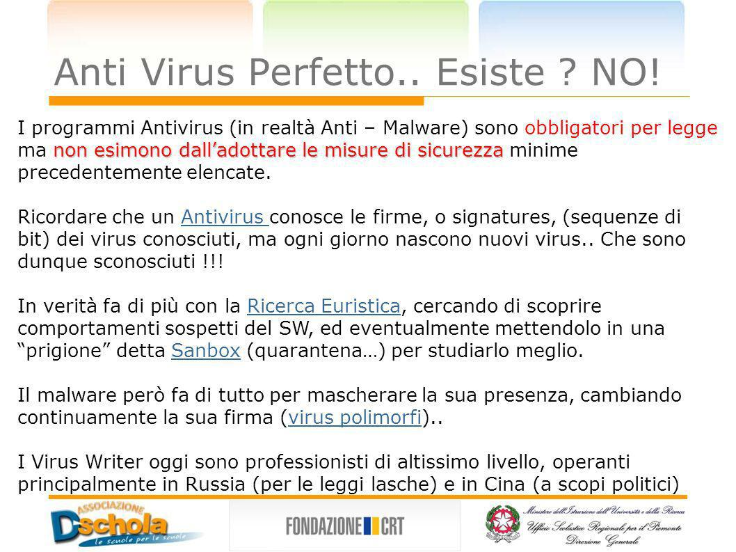 Anti Virus Perfetto.. Esiste NO!