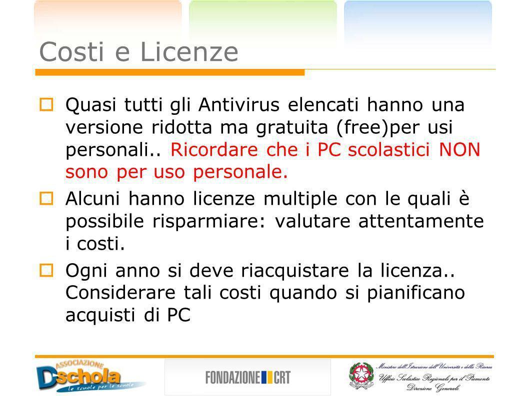 Costi e Licenze