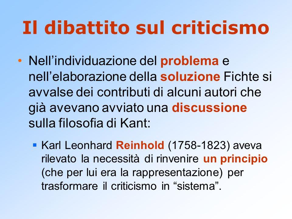 Il dibattito sul criticismo