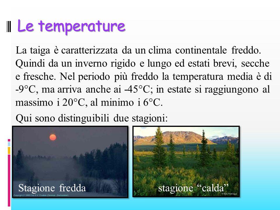 Le temperature