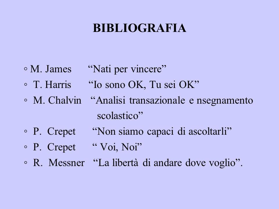 BIBLIOGRAFIA ◦ M. James Nati per vincere