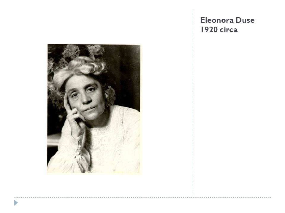 Eleonora Duse 1920 circa