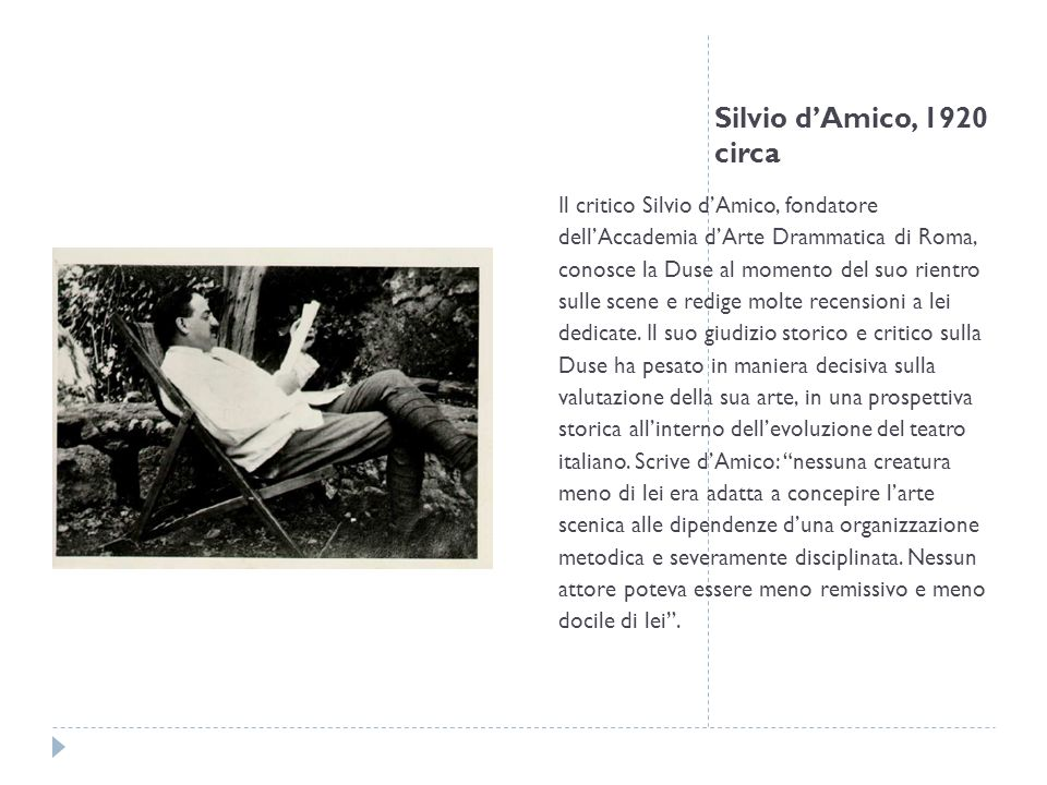 Silvio d'Amico, 1920 circa