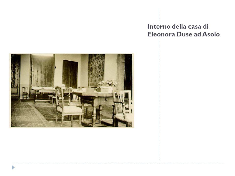 Interno della casa di Eleonora Duse ad Asolo