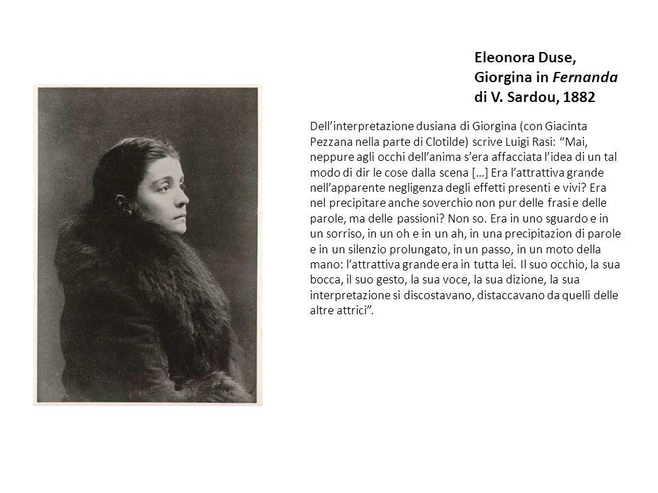 Eleonora Duse, Giorgina in Fernanda di V. Sardou, 1882