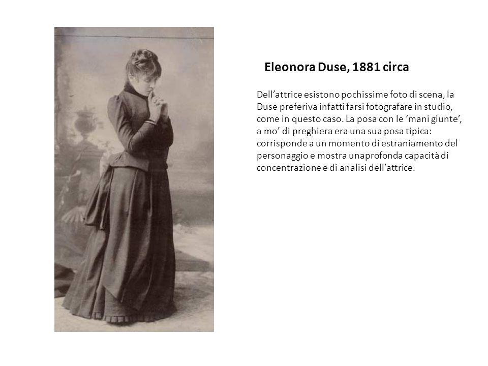 Eleonora Duse, 1881 circa