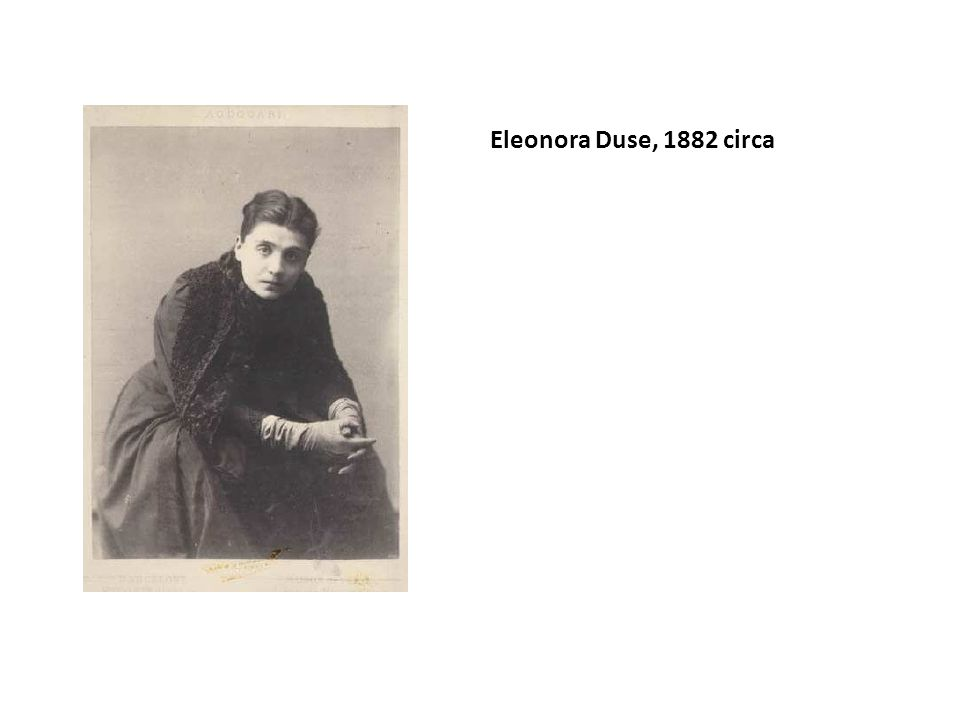 Eleonora Duse, 1882 circa
