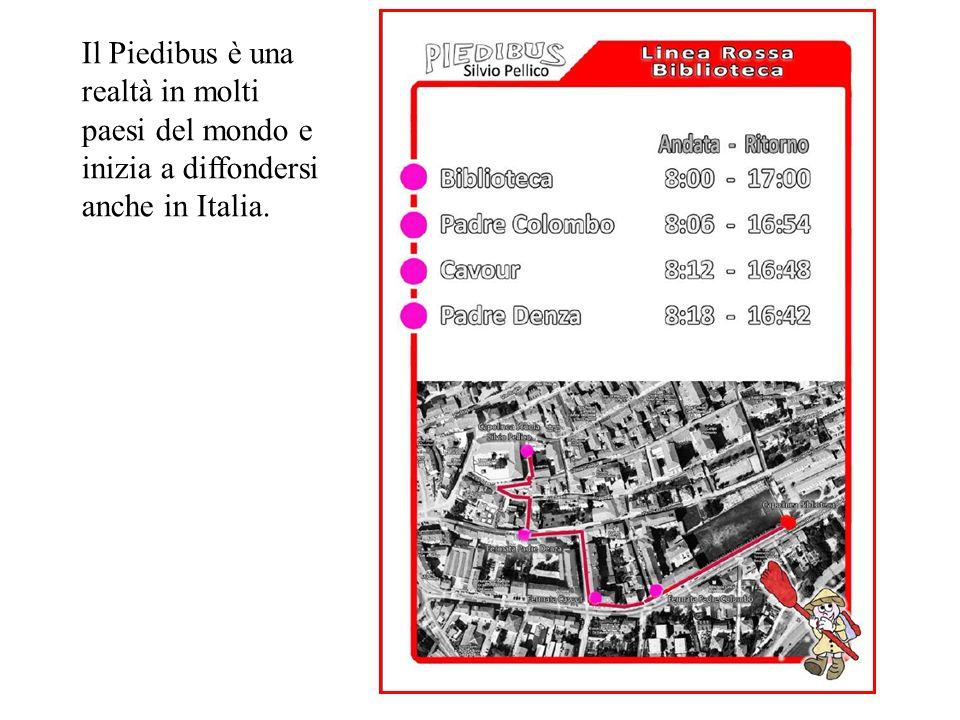 Il Piedibus è una realtà in molti paesi del mondo e inizia a diffondersi anche in Italia.