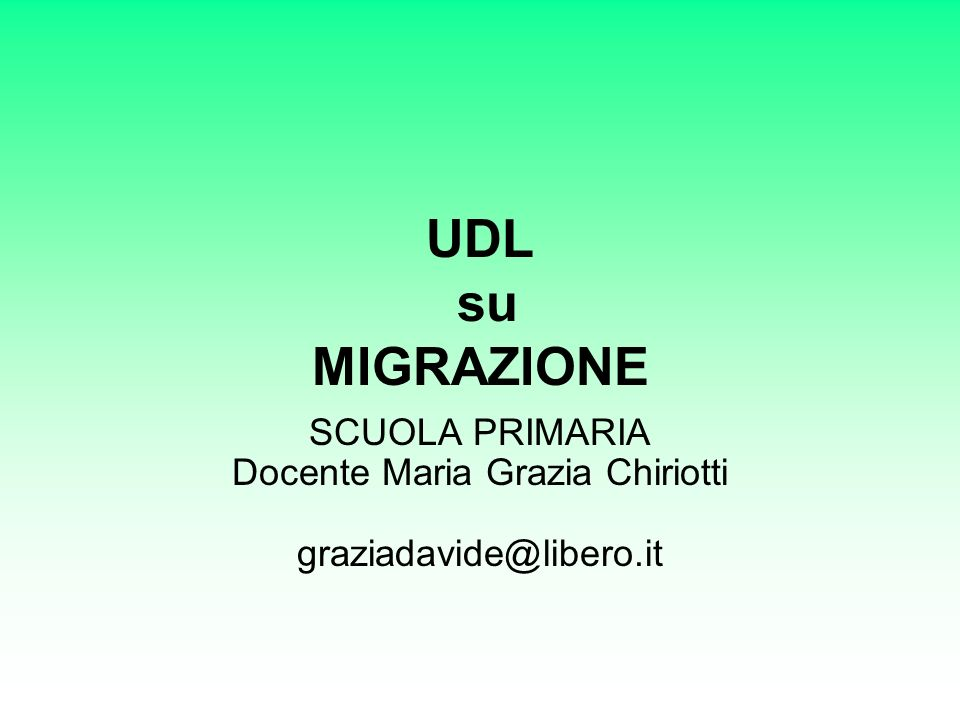 SCUOLA PRIMARIA Docente Maria Grazia Chiriotti graziadavide@libero.it