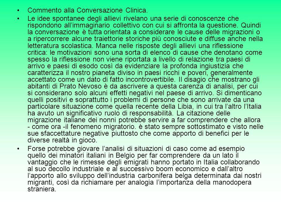 Commento alla Conversazione Clinica.