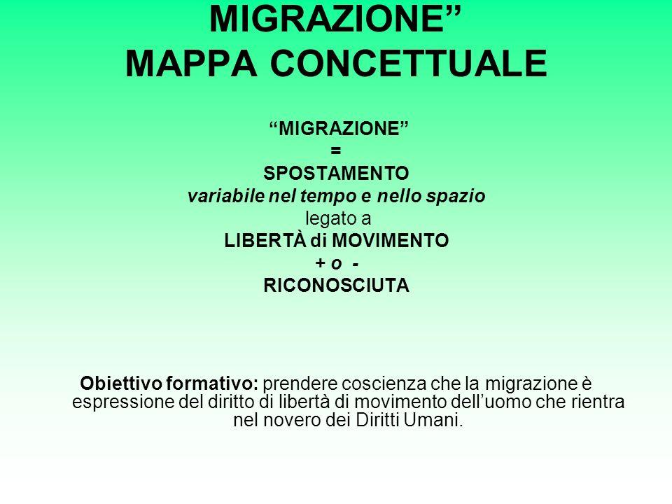 MIGRAZIONE MAPPA CONCETTUALE
