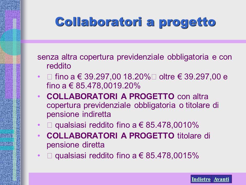 Collaboratori a progetto