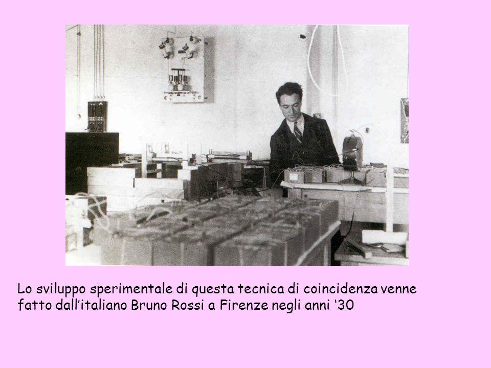 Lo sviluppo sperimentale di questa tecnica di coincidenza venne fatto dall'italiano Bruno Rossi a Firenze negli anni '30