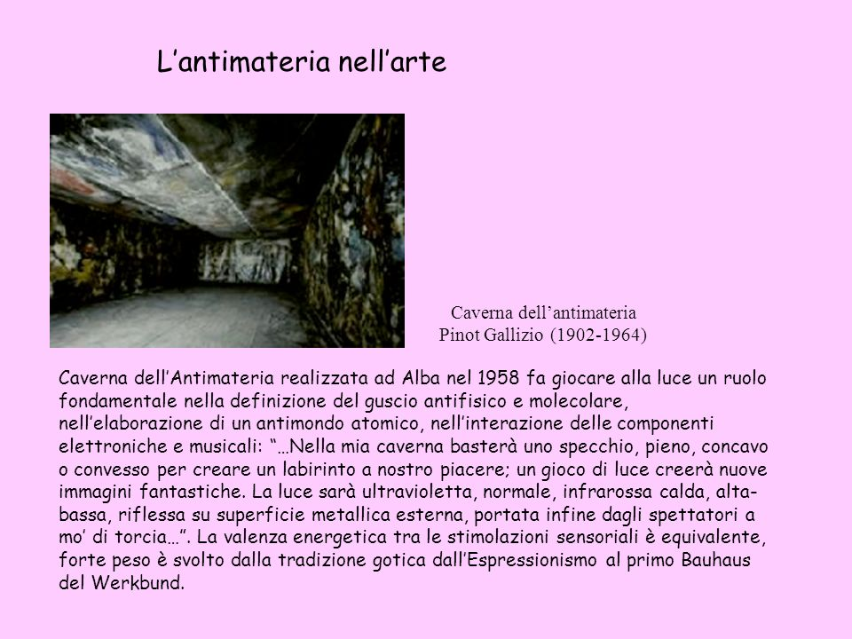 Caverna dell'antimateria Pinot Gallizio (1902-1964)