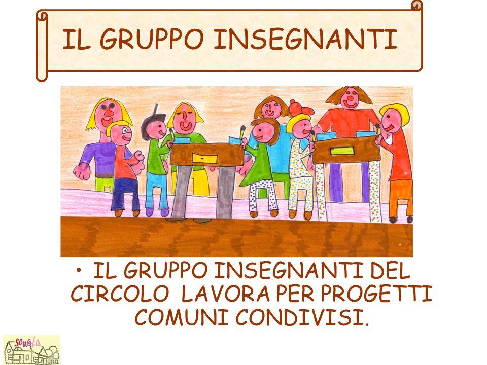 IL GRUPPO INSEGNANTI DEL CIRCOLO LAVORA PER PROGETTI COMUNI CONDIVISI.