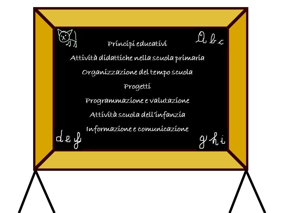 Attività didattiche nella scuola primaria