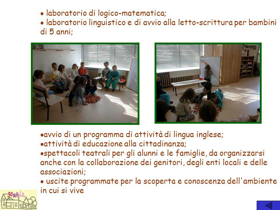 laboratorio di logico-matematica;
