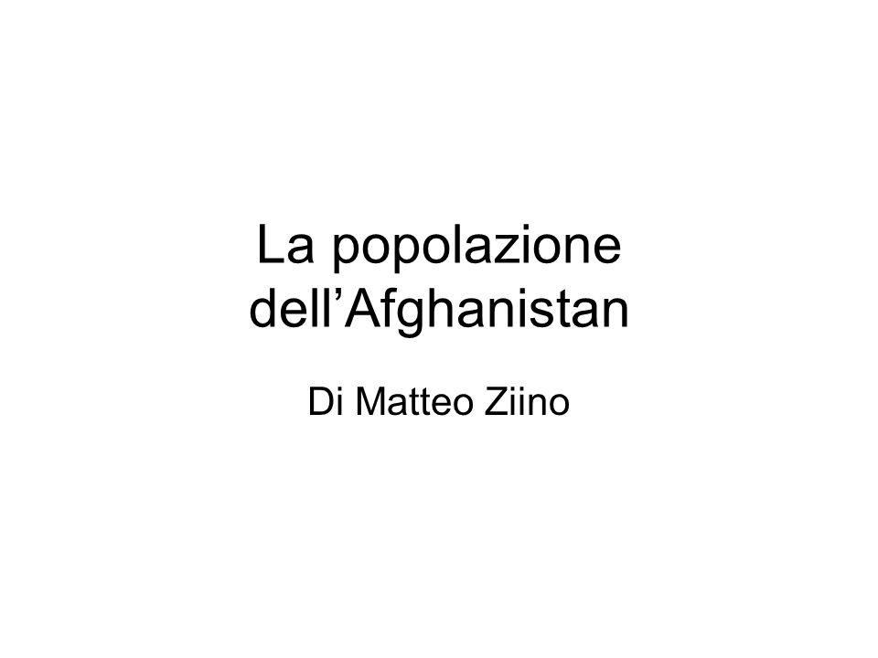 La popolazione dell'Afghanistan